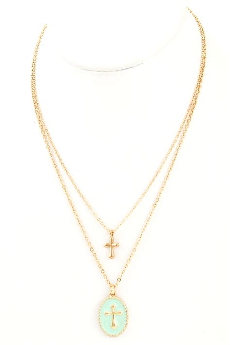 cross pendant layer cross necklace necklaces