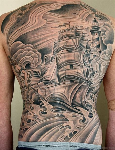 amazing back tattoos 51 classic ship tattoos on back