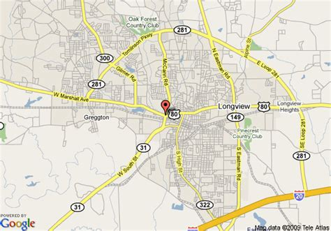 where is longview texas on a map map of quality inn longview longview