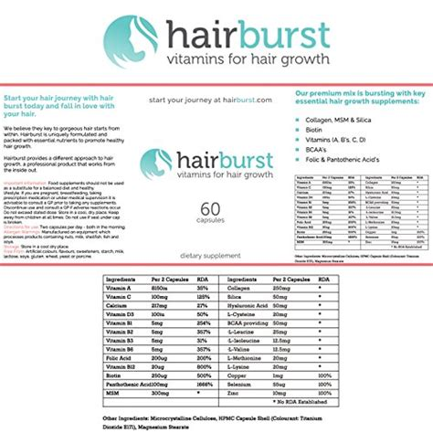 hair burst ingredients hairburst ingredients chelseanderson hair burst comment