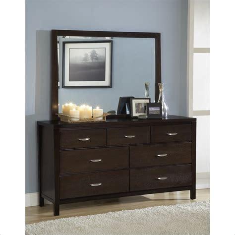 dark wood dresser with mirror modus urban loft 7 drawer dresser and mirror set in dark