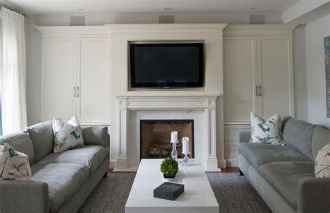 50 quot flat panel tv mounted over fireplace with in wall 5 1 speaker