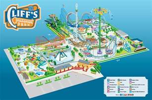 map of parks park map cliff s amusement park