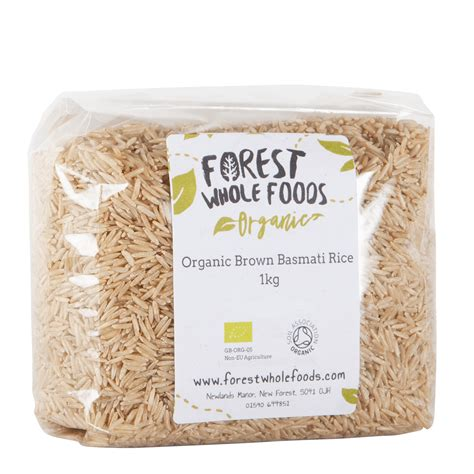 Organic Brown Rice 1 Kg organic brown basmati rice forest whole foods