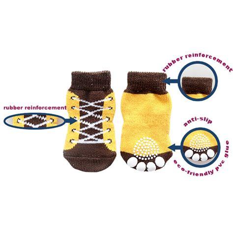 4pcs Set Small Pet Dog Sneakers Shoe Pattern Non Slip