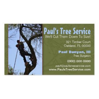 business card service tree service business cards templates zazzle