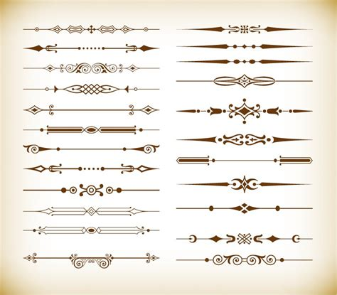 vintage design elements vector set 23 vector set of vintage design divider elements free