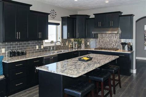 Kitchen With Black Cabinets Beautiful Black Kitchen Cabinets Design Ideas Designing Idea