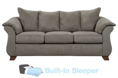 Upton Microfiber Queen Sleeper Sofa At Gardner White