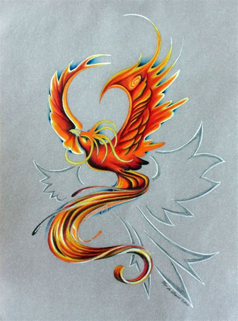 phoenix rising tattoo design rising tatoos