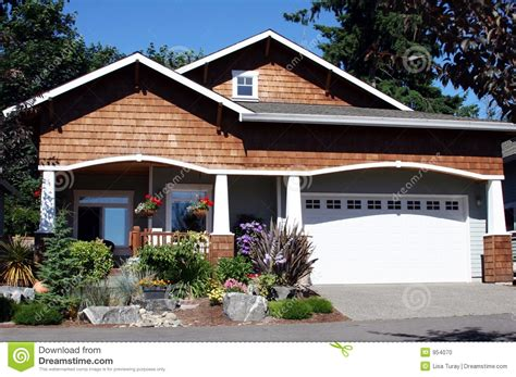 craftsman style home stock photo image of cottage