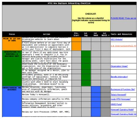 new hire checklist templates 16 free word excel pdf