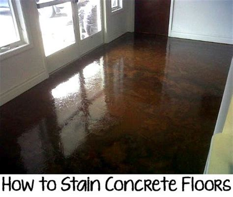 How To Stain A Concrete Floor by How To Stain Concrete Floors