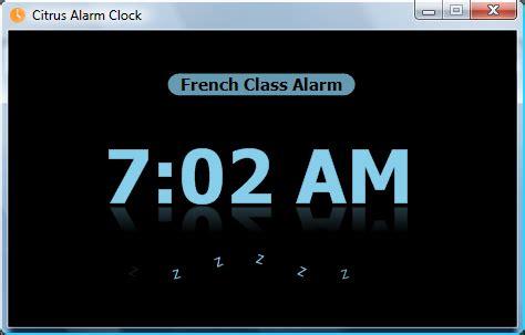 citrus alarm clock alarm clock software