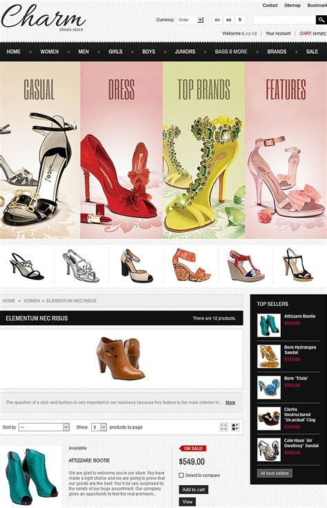 themes store ecommerce ecommerce templates for online footwear stores 2017