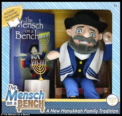 mench on the bench the mensch on a bench is hanukkahs answer to the elf on