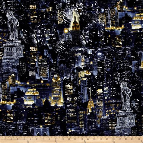discount upholstery fabric nyc new york state of mind city nights black discount