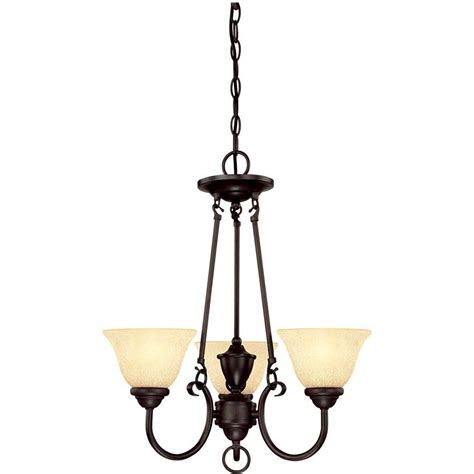 Chandelier Home Depot by Westinghouse 3 Light Bronze Chandelier 6222400 The Home Depot