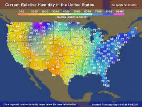 Usa Temperature Map by Relative Humidity Map For The United States