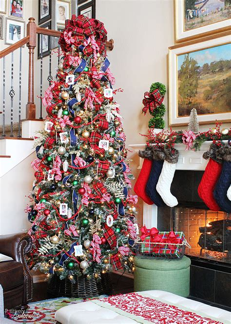 traditional christmas decorations to make traditional plaid tree decorations a classic