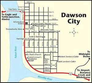 dawson canada map 1998 canada alaska trip part 16