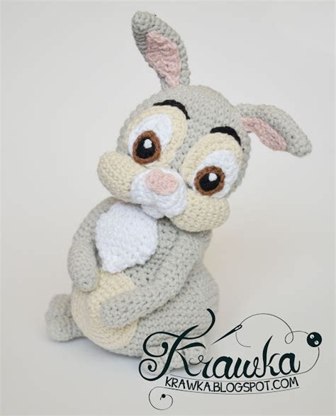 etsy rabbit pattern krawka easter thumper rabbit from bambi etsy pattern