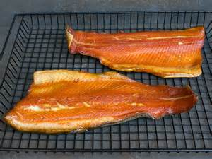 smoked rainbow trout fish smoked in the bradley smoker