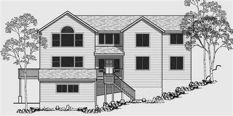 front sloping lot house plans house plans for narrow lots sloping