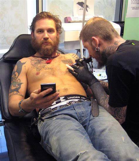 tattooed actors tom hardy tattoos tattooed