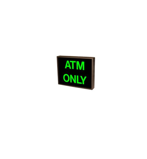 Sign Led Atm backlit atm only sign led atm only sign backlit led atm only sign