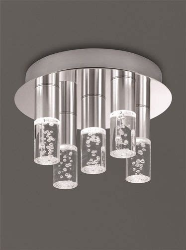 bathroom tube light fixtures franklite cf5764 bubble tube led bathroom ceiling light
