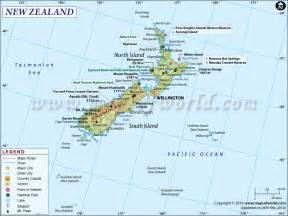 Where Is New Zealand On A World Map by New Zealand Map