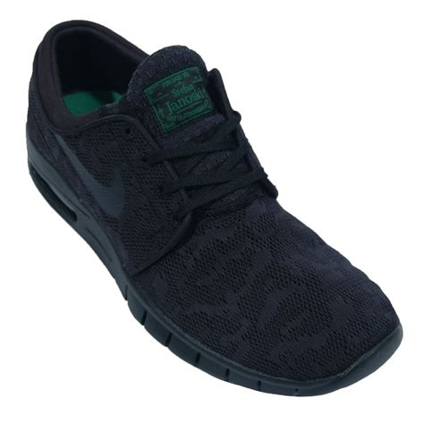 nike sb stefan janoski max black mens shoes from attic