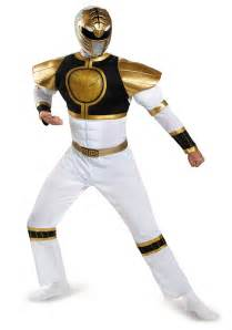 Power Rangers Decorations White Ranger Classic Muscle Costume