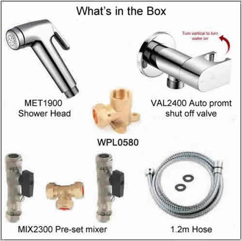 Automatic Shut Shower by Kit1700 Pre Set Manual Temperature Bidet Shower Kit With Auto Prompt Water Shut Valve