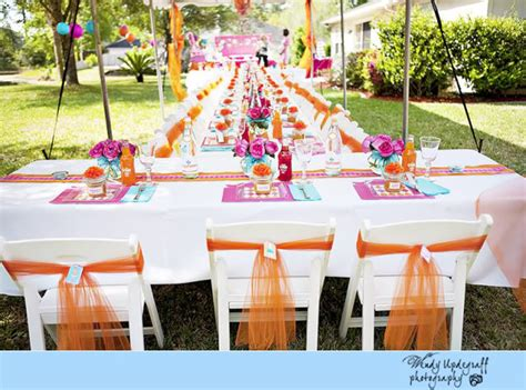 Orange Baby Shower Themes by The Cutest Pink And Orange Baby Shower