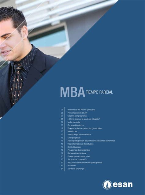 Cd Mba by Mba Tiempo Parcial Esan 2012