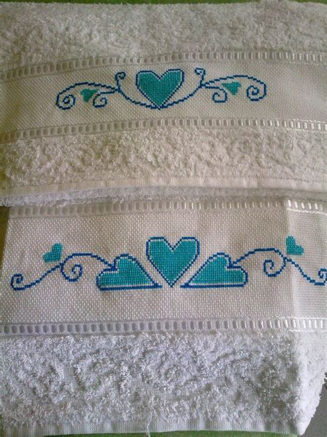 punto croce asciugamani bagno asciugamani ricamati punto croce per la casa e per te