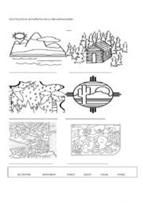 Ecosystems For Kids Worksheets
