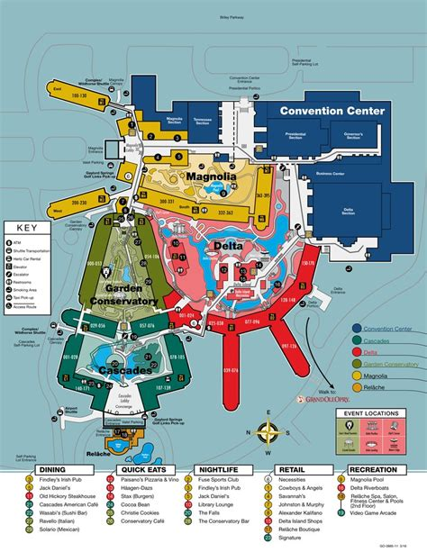 layout of opryland hotel gaylord opryland resort convention center maplets