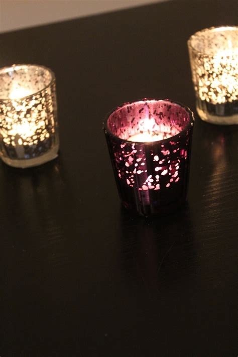 Purple Candle Holders Your Chance Set Of 10 Mercury Glass Purple Plum Eggplant Amethyst Speckled Glass Candle Holders Votive