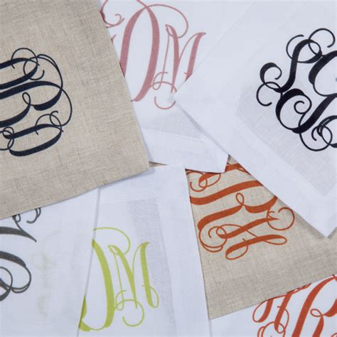 monogrammed linen napkins monogram cloth napkins monogram cloth napkins glamorous