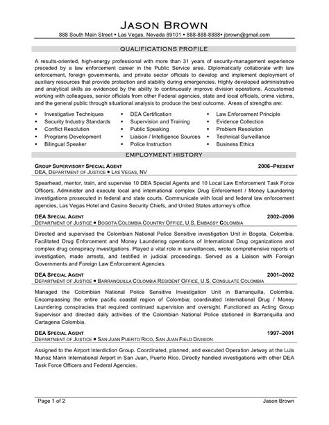 Enforcement Resume Sle by Enforcement Resume Sle 28 Images Enforcement Resume