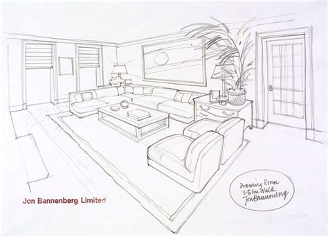 draw a room design by jon bannenberg for a drawing room at 3 elm walk