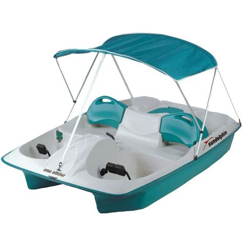 sun dolphin sun slider 5 person pedal boat with canopy - Sun Slider 5 Person Pedal Boat With Canopy