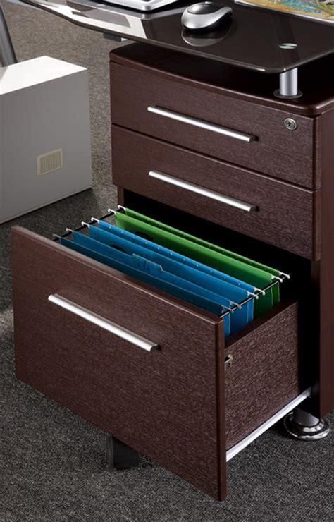 built in file cabinets techni mobili glass top desk with built in file cabinet
