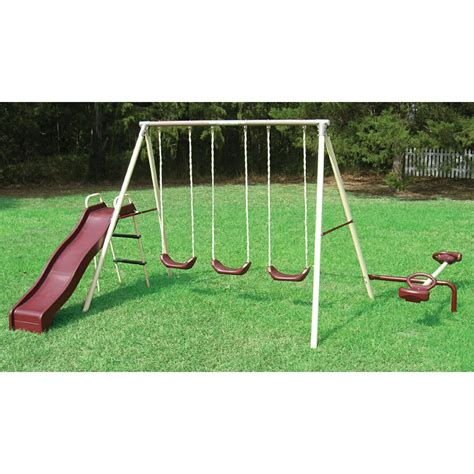 flexible flyer swing set accessories flexible flyer 174 play a round fun gym swing set with