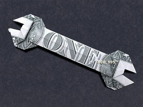 Origami Wrench - money origami wrench dollar bill made with 1 00