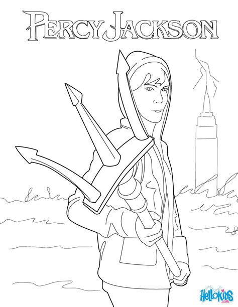 percy jackson coloring book activity book for children and books percy s trident coloring pages hellokids