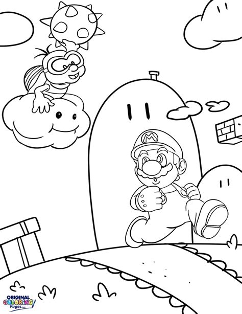 super mario coloring pages original coloring pages